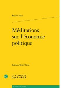 Pietro Verri, Méditazions sur l'économie politique