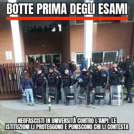 FOIBE, Torino: Forze dell'ordine mobilitate per consentire il volantinaggio ai fascisti e arresta gliantifascisti
